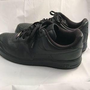 Mens Nike Air Force 1 Low Black 315122 001 Size 12